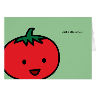 Happy Tomato Red Vegetable Fruit Card