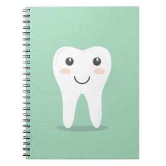 Happy Tooth cartoon dentist brushing toothbrush Notebook