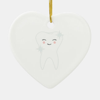Happy Tooth Ceramic Ornament