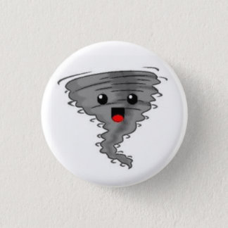Happy Tornado 1 Inch Round Button
