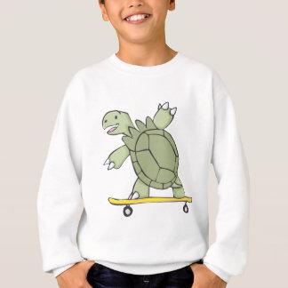 Happy Tortoise Riding Skate Board Sweatshirt