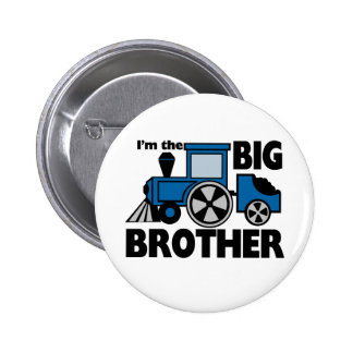 Happy Tracks Big Brother 2 Inch Round Button