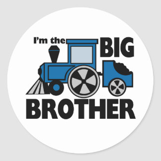 Happy Tracks Big Brother Classic Round Sticker