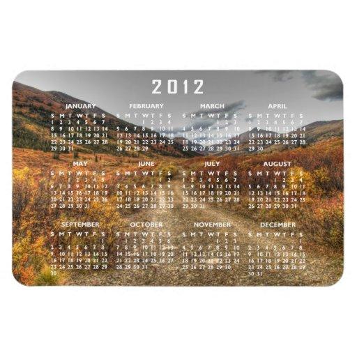 Happy Trail; 2012 Calendar Vinyl Magnet