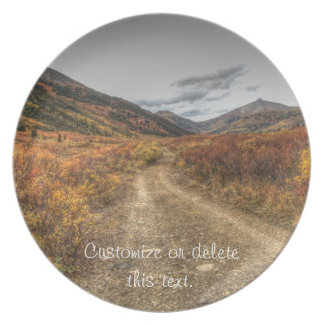 Happy Trail; Customizable Party Plate