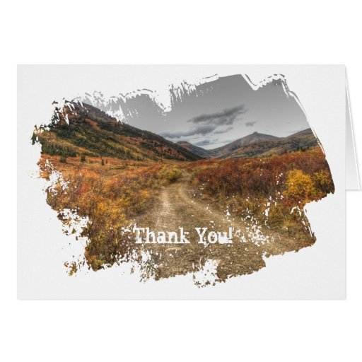 Happy Trail; Thank You Greeting Card