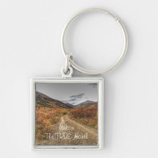Happy Trail; Yukon Territory Souvenir Keychain