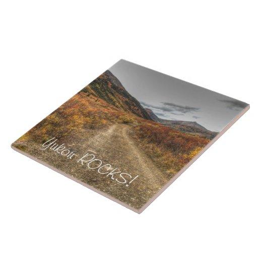 Happy Trail; Yukon Territory Souvenir Tiles
