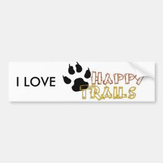 Happy Trails Bumper Sticker
