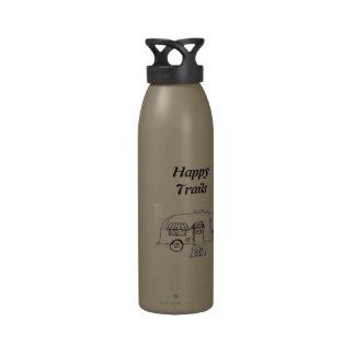 Happy Trails camper Reusable Water Bottle