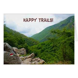 Happy Trails! Note Card