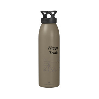 Happy Trails  tent Drinking Bottles