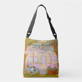 Happy Trails Vintage Trailer Tote Bag