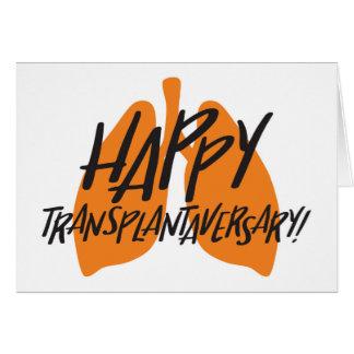 Happy Transplantaversary Lungs Card