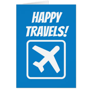 Happy Travels goodbye farewell greeting card