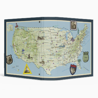 Happy Travels!  Travel Photo Album Vinyl Binders