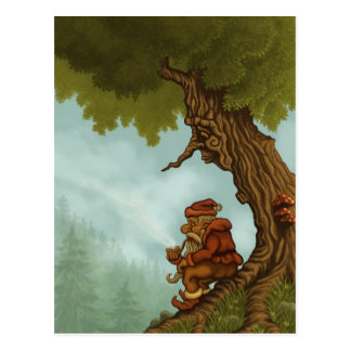 happy tree fantasy postcard