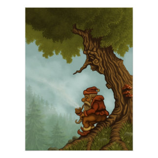happy tree fantasy poster
