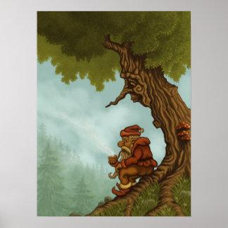 happy tree fantasy poster