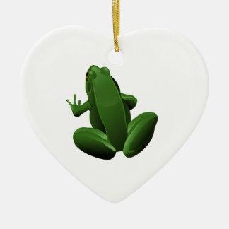 Happy Tree Frog Ceramic Ornament