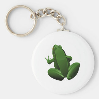 Happy Tree Frog Keychain