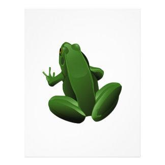 Happy Tree Frog Letterhead Template