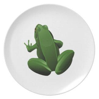 Happy Tree Frog Plates