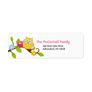 Happy Tree Owls PRINTABLE ADDRESS LABELS