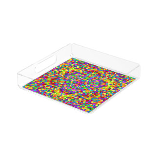 Happy triangle mandala 2 acrylic tray
