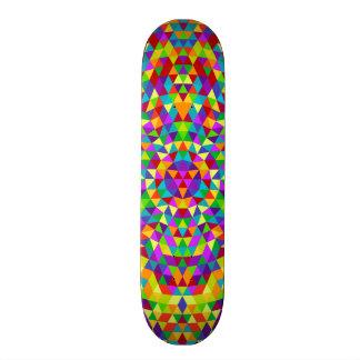 Happy triangle mandala 2 custom skate board