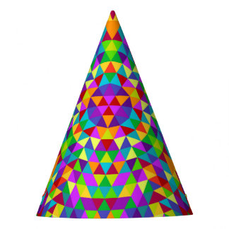 Happy triangle mandala 2 party hat