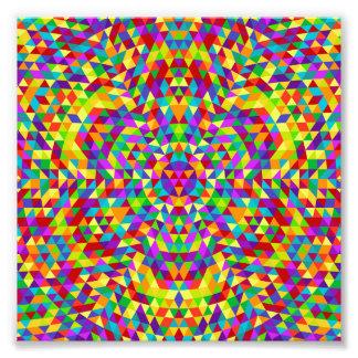 Happy triangle mandala 2 photographic print