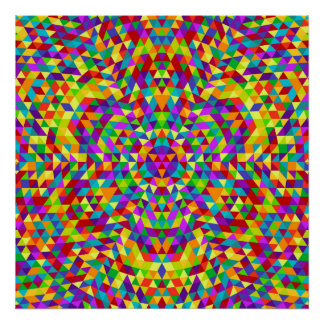 Happy triangle mandala 2 poster