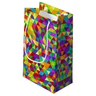 Happy triangle mandala 2 small gift bag