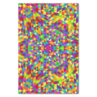 Happy triangle mandala 2 tissue paper