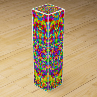 Happy triangle mandala 2 wine box