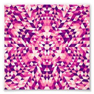 Happy triangle mandala art photo
