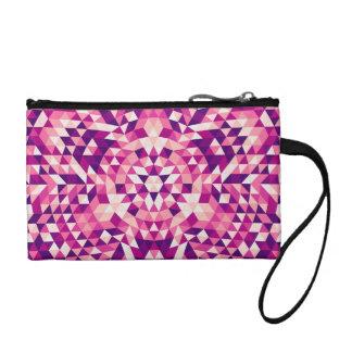 Happy triangle mandala coin purse