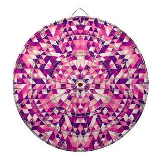 Happy triangle mandala dartboard