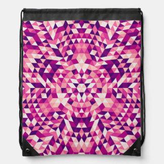 Happy triangle mandala drawstring bag