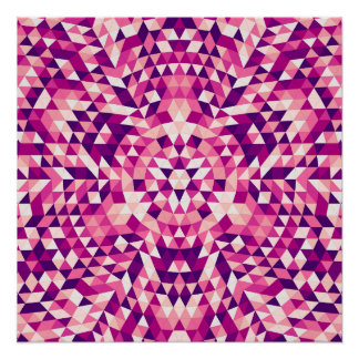 Happy triangle mandala perfect poster