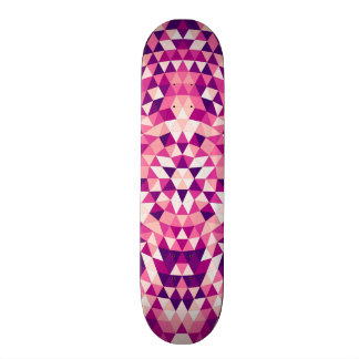 Happy triangle mandala skateboard deck