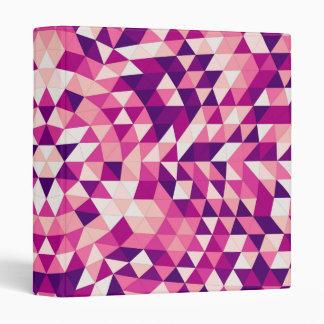 Happy triangle mandala vinyl binders