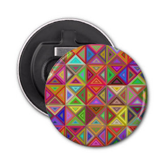 Happy triangle mosaic button bottle opener