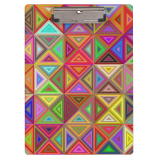 Happy triangle mosaic clipboards