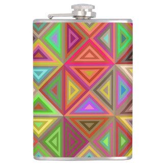 Happy triangle mosaic flask