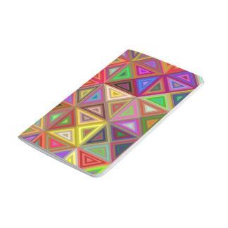 Happy triangle mosaic journals