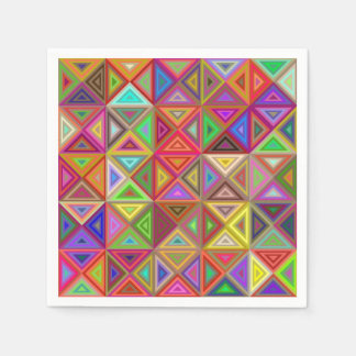 Happy triangle mosaic paper napkin
