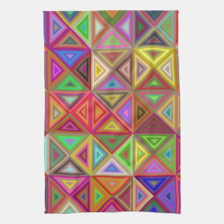 Happy triangle mosaic towels