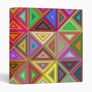Happy triangle mosaic vinyl binder